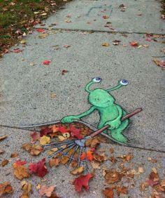 Cute 3D street art ;o)