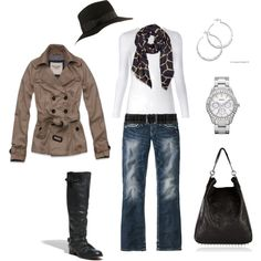 Super cute- Love the bag, boots, and SIlpada earrings!