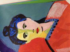 Retrato señora#retratos#populares#arte#pintura#acrilicos