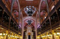 The Great Synagogue, Dohany Street, Budapest. 17 of the World's Most Awe-Inspiring Religious Structures Indoor Places, Underground Caves, World Religions, Budapest Hungary, Moorish, Travel Photography, Beautiful Places, Around The Worlds, Travel List