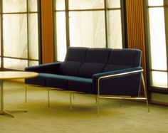 Series 3300 Three-Seater Sofa. Design by Arne Jacobsen. Originally for SAS Hotels in 1956. Quite epic.