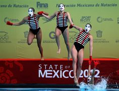 Just When You Thought It Was Safe: The Mexican synchronized swimming team performs during the Synchronized Swimming World Trophy 2012 held at the Mexican Olympic Committee in Mexico City, Nov. 30, 2012.