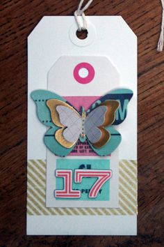 Rachel Millington for the Hey Little Magpie Blog, pretty Christmas tags with Notes & Things