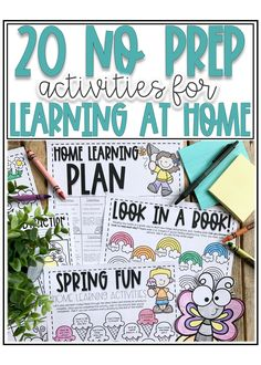 20 No Prep Activities for Learning at Home — Alleah Maree