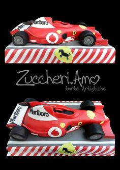Tutorial for cake www.it Idee e strumenti per realizzarli Ferrari Cake, Ferrari F1, Cake Icing Techniques, 8th Birthday Cake, Race Car Cakes, Cake Templates, Race Car Party, Cake Decorating Tutorials, Cookie Decorating