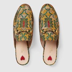 Gucci Princetown brocade slipper Detail 3