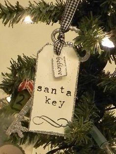 Glitter Key Ornaments