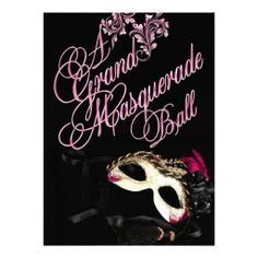 Masquerade Ball Birthday Invitation