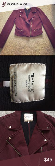 Zara Trafaluc Maroon Moto Jacket Zara Trafaluc Maroon Moto Jacket. Super soft material, quality hardware zippers. ✨Open to offers Zara Jackets & Coats