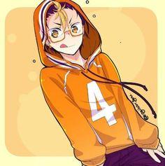 Nishinoya, con lentes auxilio belleza Haikyuu Nishinoya, Manga Haikyuu, Haikyuu Fanart, Kuroo, Kenma, Manga Anime, Anime Guys, Anime Art, Haikyuu Characters