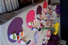art party tablescape