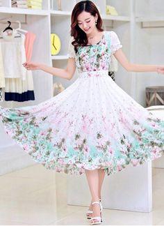 267184b60f1b Suitsvilla New White & Aqua Georgette Designer Western Wear ( Semi Stitched  ) Kurtas and Kurtis For Women