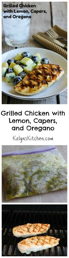 Grilled Chicken with Lemon, Capers, and Oregano is a grilling option that's perfect for any summer holiday party or any time you feel like cooking on the grill.   [from KalynsKitchen.com]