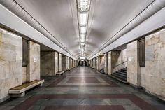 Universitet (Russian: Университе́т), named after nearby Moscow State University, is a station on the Moscow Metro's Sokolnicheskaya Line. It opened in 1959 and features rectangular white marble pylons and tiled walls.
