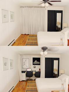 Oliver & Sherrie's Mini Bronx Loft-hidden office space