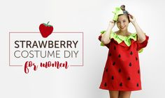 DIY Strawberry Costumes for the Whole Family