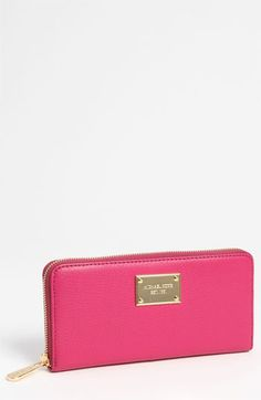 I love this in black!!! MICHAEL Michael Kors 'Jet Set' Zip Around Continental Wallet available at #Nordstrom