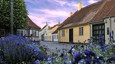 Visit Hans Christian Andersen in Odense Odense Denmark, Fairytale House, Yellow Houses, Hans Christian, Aspen, The Good Place, Architecture Design, Fairy Tales, Places To Visit