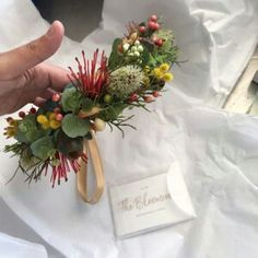 You can't beat Australian native flowers and foliage to add that rustic feel to an event. I received such a wonderful review from Gabriele in Western Australia about the toddler sized Australian Native crown she'd ordered...please have a look...