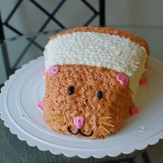 Look At This Little Thing Via Endloss Hamster On A Piano I - Hamster birthday cake