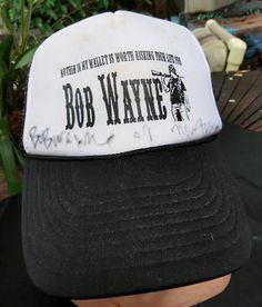Signed Autographed Bob Wayne Country Rock Musician Tour Mesh Hat Cap Montana