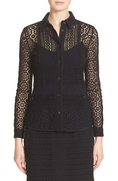 BURBERRY Floral Guipure Lace Blouse. #burberry #cloth #