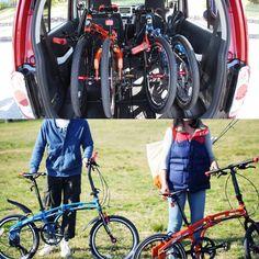 晴れ時々ドライブ  クルマとのマッチングをテーマにした  DOPPELGANGER 202 MOBILITY SIX  小さく折りたためば軽自動車にもラクラク積載できちゃいます  少しずつ春を感じる今日この頃 次の週末はちょっと遠くまでお出かけして新鮮な空気の中でサイクリングを楽しんでみませんか  色んな言語の #自転車  #bicycle  #bike  #vicicleta  #fahrrad  #velo  #bicicletta  #fiets  #cykel  #велосипед  #POLKUPYÖRÄRETKI  #자전거  #ドッペルギャンガー  #DoppelgangerBike  #instabicycle  #minivelo  #instacycling  #ミニベロ