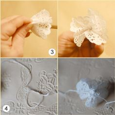 DIY Wedding Decorations – Doily Flower Wedding Garland : Factory Direct Craft Blog