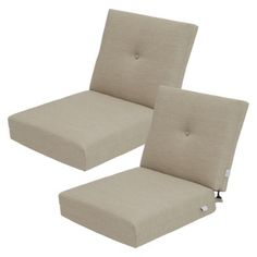 Threshold™ Squier Replacement Club Chair & Loveseat Cushion Set in Tan available at Target. Outside Patio, Outdoor Cushions, Club Chairs, Dream Garden, Pallet Furniture, Floor Chair, Love Seat, New Homes, Outdoor Decor