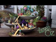 DIY Fairy Garden Ideas: Little girls dream of fairies: Fairy gardens are just what they sound like; miniature gardens that include Fairy figurines, tiny houses, tiny animals. Garden Art, Garden Design, Fairy Figurines, Small Space Gardening, Fairy Houses, Wizard Of Oz, Garden Styles, Plants, Fairy Gardens