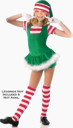 Details about rockin reindeer christmas dance costume w antlers ballet