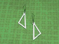 Triangle earrings | metal cutting, material: nickel silver