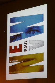 Paul Newman poster by Ralph Schraivogel