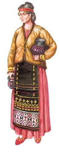 Woman's outfit. Chernolesskii culture (Cimmerian).