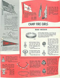 Camp Fire Girls Catalog 1955 <> 3 of 4 1970s Childhood, Childhood Memories, Bluebird Vintage, American Heritage Girls, Camp Fire, Fathers Love, Ol Days, Good Ol, Outdoor Camping