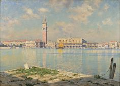 """""""Venice,"""" Walter Launt Palmer, oil on canvas, 25 x 35"""", Albany Institute of History and Art."""