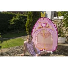Princess playtent for small children. Bright pink in colour. Easy to pop up and keep clean. Available now from Garden Games. Garden Games, Hanging Chair, Bright Pink, Pop Up, Surfboard, Keep It Cleaner, Children, Children Playground, Tent