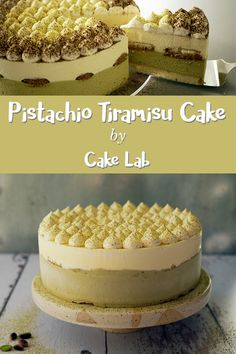 A bit of coffee, a little more pistachio, even more cream and lots of mascarpone! All in one festive tiramisu cake with a pistachio twist Pistachio Dessert, Pistachio Cream, Sweet Recipes, Cake Recipes, Dessert Recipes, Cupcakes, Cupcake Cakes, Biscotti, Sweets