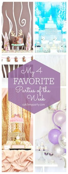 My favorite parties this week include a girly reindeer holiday party, a Winter wonderland party, a Minnie Mouse birthday and a New Year's Eve party | CatchMyParty.com
