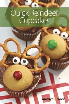 Dianne M., a greeter at Store 5150 in Maplewood, Mo., says kids love to help make these Quick Reindeer Cupcakes for the holidays. We love that they're easily decorated with supplies you probably already have in your pantry! #family #christmas