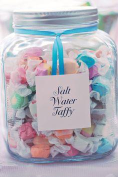 I love salt water taffy, especially in a fun jar.