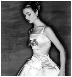 Elsa Martinelli in a design by Dior called Zemire,  1954