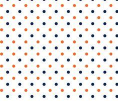 Auburn_White_Dot custom fabric by rick_rack_scissors_studio for sale on Spoonflower