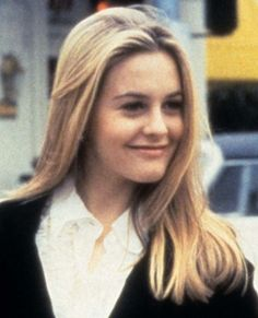 Alicia Silverstone in Clueless Cher's hair is like spun silk. I wonder if her shampoo was from, like, a totally important designer?