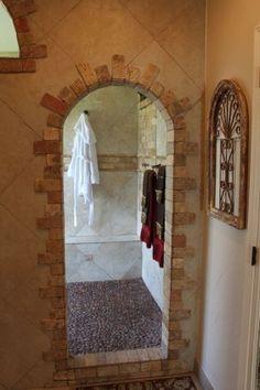 Adorable Tuscan Bathroom Decor Ideas 23 - May 26 2019 at Minimalist Bathroom Design, Bathroom Design Small, Tuscan Bathroom Decor, Kitchen Decor, Peach Bathroom, Shower Bathroom, Master Bathroom, Bathroom Ideas, Master Baths