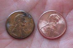 Make a Penny Shine // useful for penny floor idea