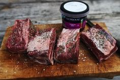 Korean BBQ sauce, I came up with this delicious beef short rib recipe cooked indirect on the BBQ. Korean Bbq Sauce, Korean Bbq Beef, Korean Food, Bbq Beef Ribs, Beef Short Ribs, Rib Recipes, Cooking Recipes, Spicy, Grilling