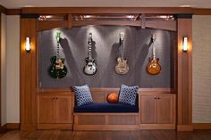 The Brilliant Guitar Storage Cabinet Guitar Storage Houzz is one of pictures of furniture ideas for your home or office. The resolution of Brilliant Guitar Discover the gallery of the Brilliant Guitar Storage Cabinet Guitar Storage Houzz Guitar Storage, Guitar Display, Home Music Rooms, Music Studio Room, Guitar Wall, Guitar Room, Guitar Cabinet, Home Theater Design, Music Decor