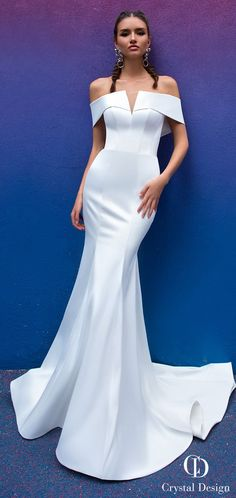 Mermaid Wedding Dresses Crystal Designs Wedding Dresses 2019 - Paris Collection - Sophisticated, romantic, glamorous and a bit sexy, Crystal Designs Wedding Dresses 2019 are knock-your-socks-off gorgeous. Simple Wedding Gowns, Stunning Wedding Dresses, Wedding Dress Trends, Perfect Wedding Dress, Dream Wedding Dresses, Wedding Attire, Bridal Dresses, Gown Wedding, Wedding Vows