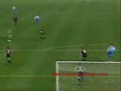 Streaker makes goal (football, soccer)